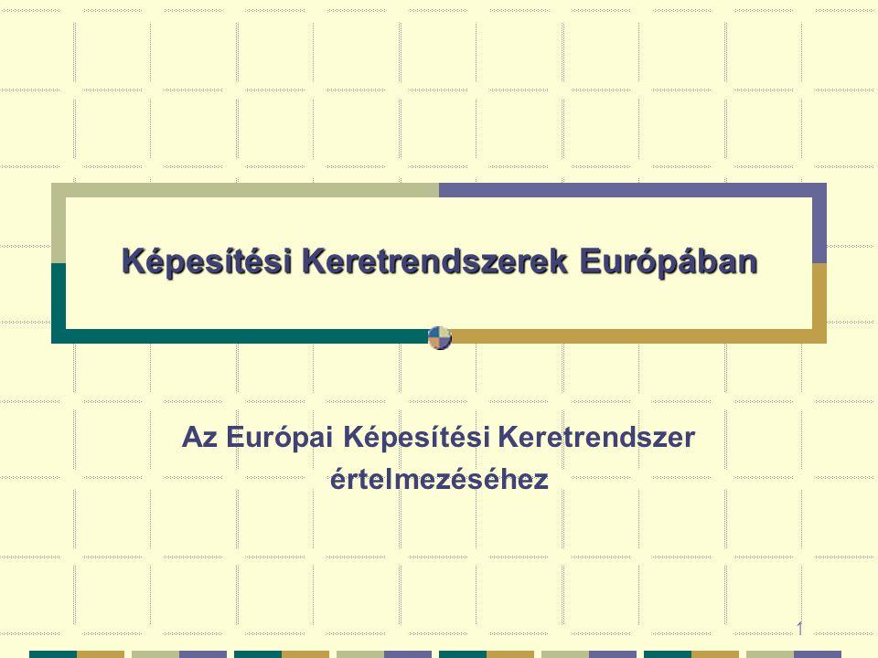 1 Képesítési Keretrendszerek Európában Az Európai Képesítési Keretrendszer értelmezéséhez