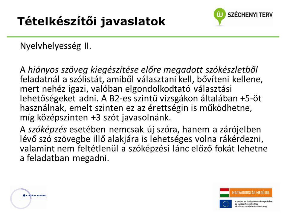 Nyelvhelyesség II.
