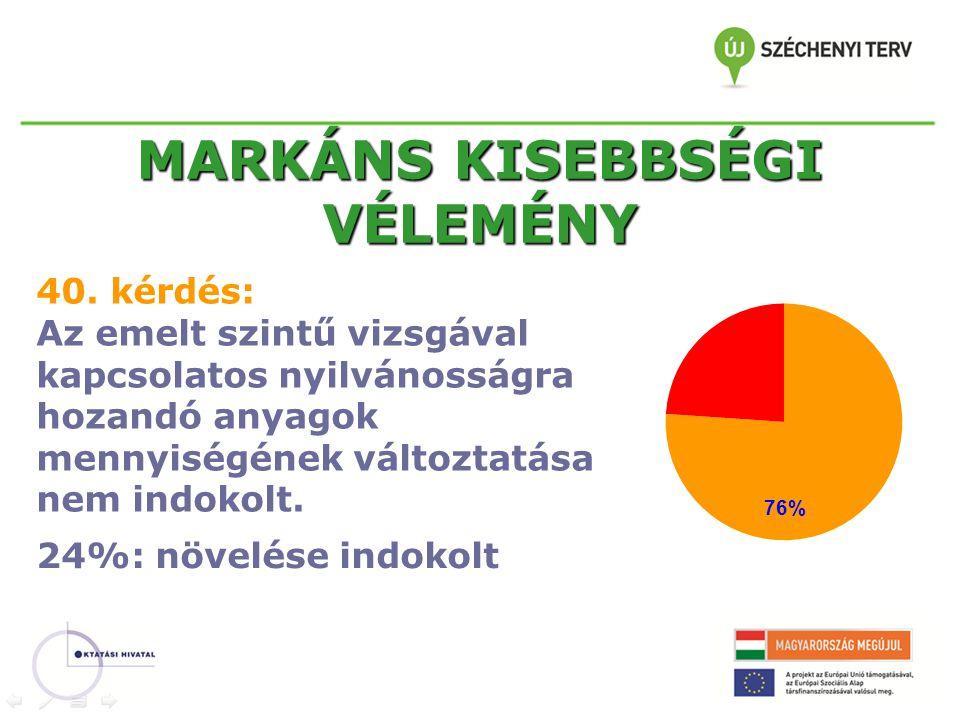 MARKÁNS KISEBBSÉGI VÉLEMÉNY 40.