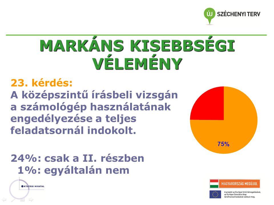 MARKÁNS KISEBBSÉGI VÉLEMÉNY 23.