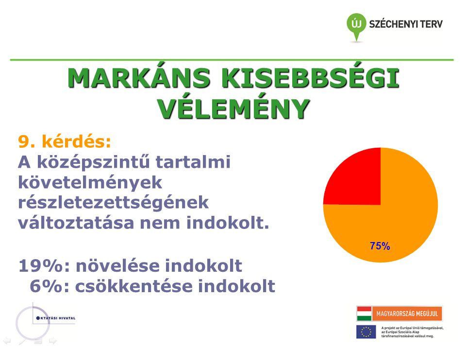MARKÁNS KISEBBSÉGI VÉLEMÉNY 9.