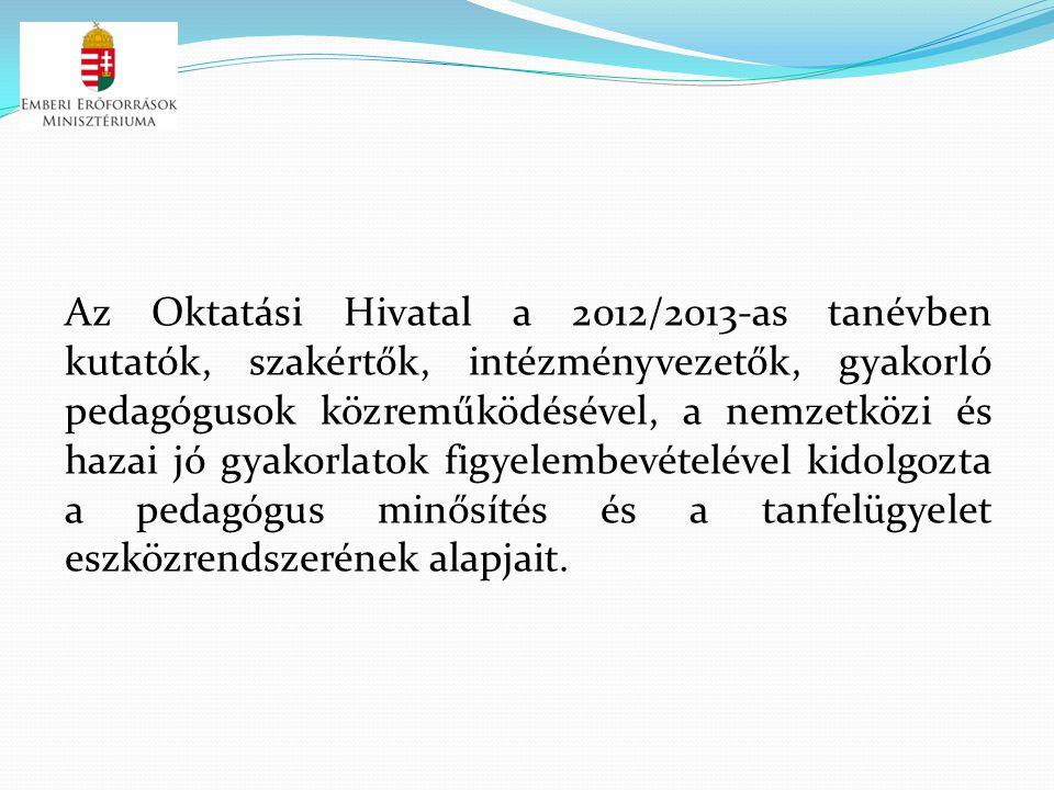 Az Oktatási Hivatal a 2012/2013-as tanévben kutatók, szakértők, intézményvezetők, gyakorló pedagógusok közreműködésével, a nemzetközi és hazai jó gyak