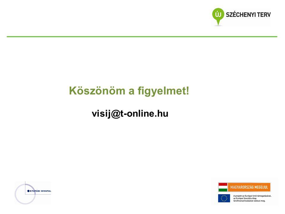 visij@t-online.hu Köszönöm a figyelmet!