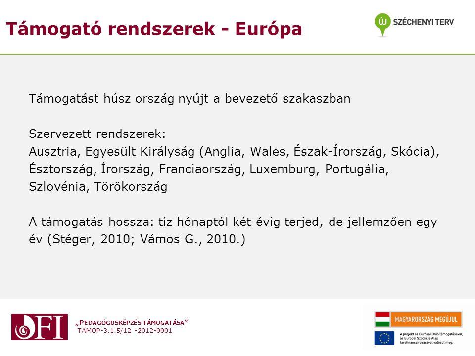 """""""P EDAGÓGUSKÉPZÉS TÁMOGATÁSA """" TÁMOP-3.1.5/12 -2012-0001 Támogató rendszerek - Európa Támogatást húsz ország nyújt a bevezető szakaszban Szervezett re"""