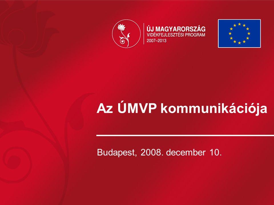 Az ÚMVP kommunikációja Budapest, 2008. december 10.