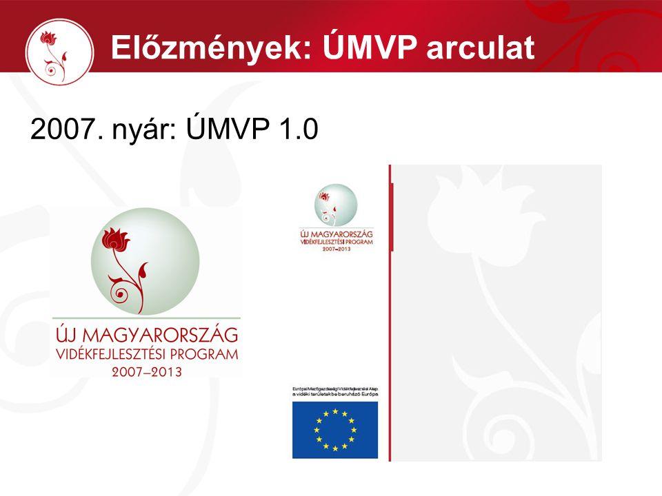 2007. nyár: ÚMVP 1.0 Előzmények: ÚMVP arculat
