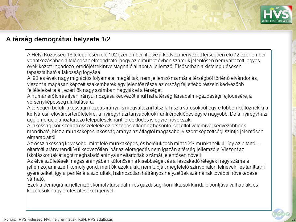 32 A Helyi Közösség 18 településén élő 192 ezer ember, illetve a kedvezményezett térségben élő 72 ezer ember vonatkozásában általánosan elmondható, ho