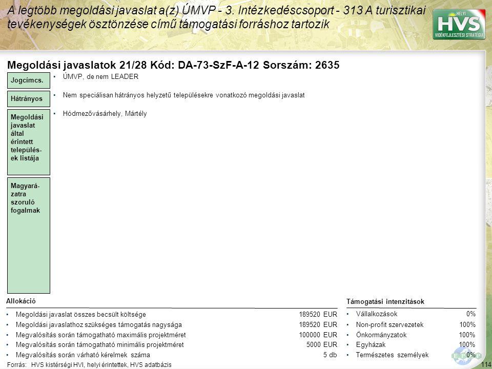 A legtöbb megoldási javaslat a(z) ÚMVP - 3.