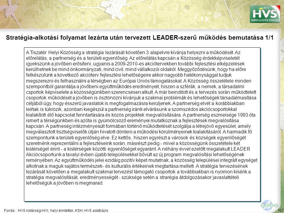 167 A Tiszatér Helyi Közösség a stratégia lezárását követően 3 alapelvre kívánja helyezni a működését.