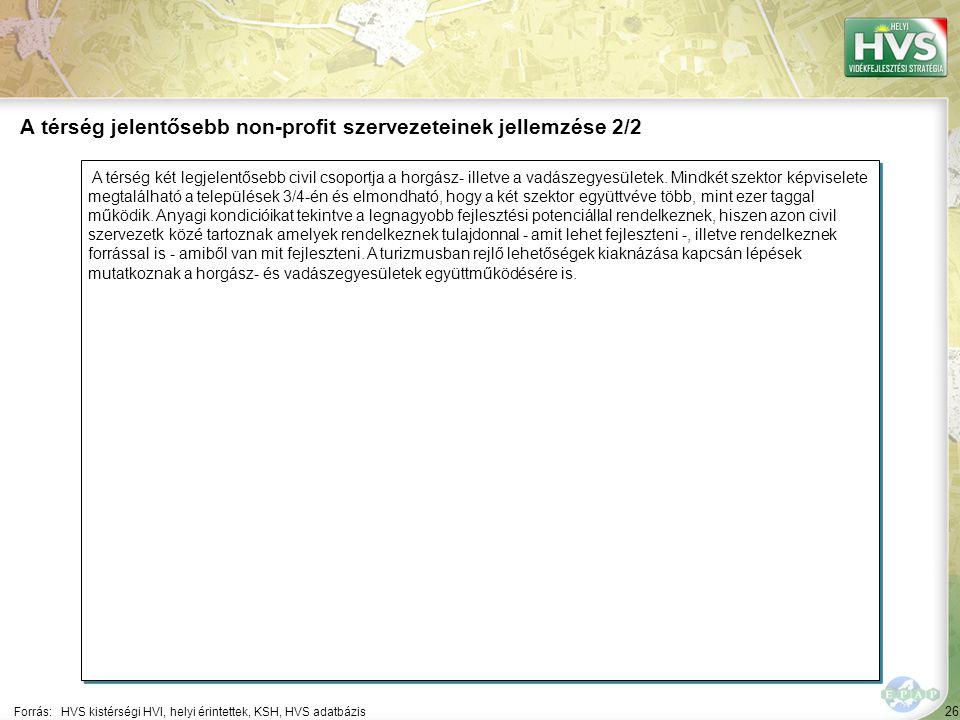26 A térség két legjelentősebb civil csoportja a horgász- illetve a vadászegyesületek.
