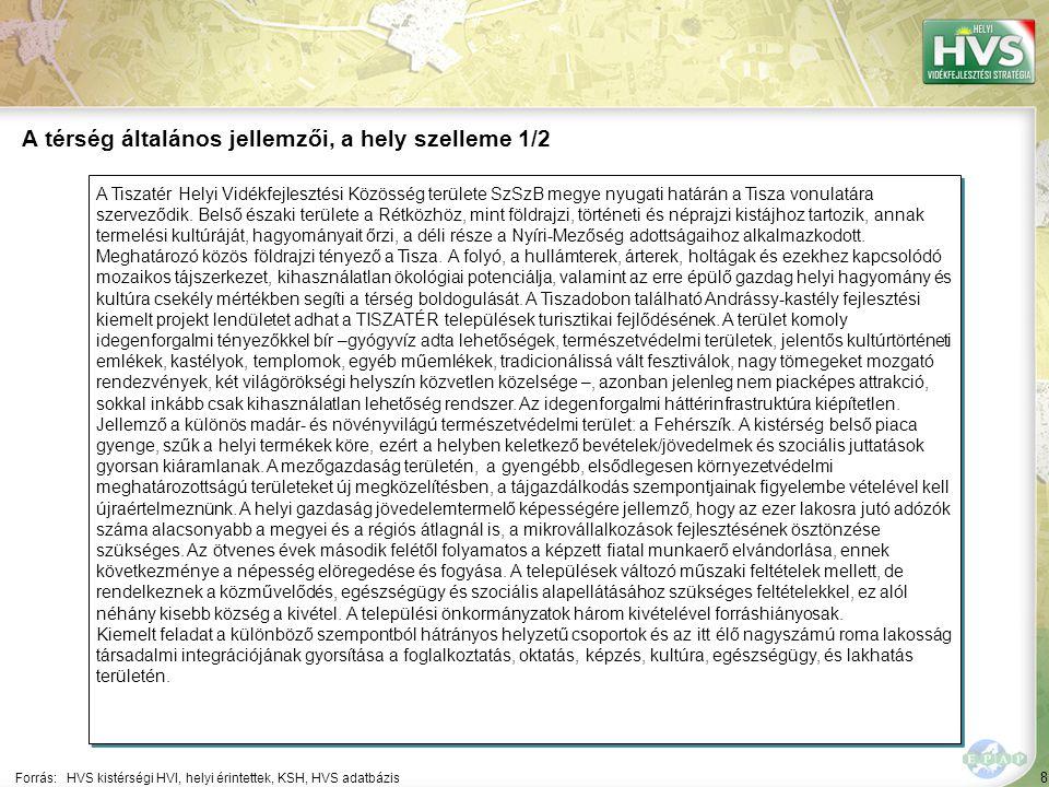 8 A Tiszatér Helyi Vidékfejlesztési Közösség területe SzSzB megye nyugati határán a Tisza vonulatára szerveződik. Belső északi területe a Rétközhöz, m