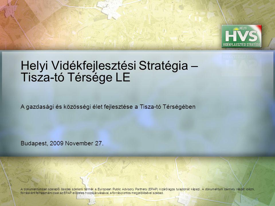 51 ▪Turisztikai hálózatépítés Forrás:HVS kistérségi HVI, helyi érintettek, HVS adatbázis Az egyes fejlesztési intézkedésekre allokált támogatási források nagysága 1/8 A legtöbb forrás – 98,843 EUR – a(z) Hagyományos technológiák és termékek felelevenítése, turisztikai célú fejlesztése fejlesztési intézkedésre lett allokálva Fejlesztési intézkedés ▪Minőségbiztosítási rendszer kidolgozása ▪Szezonalitástól és időjárástól független turisztikai attrakció és termékfejlesztés ▪Turisztikai infrastruktúra minőségének fejlesztése Fő fejlesztési prioritás: Turizmus fejlesztése Allokált forrás (EUR) 95,000 75,000 336,874 1,554,452