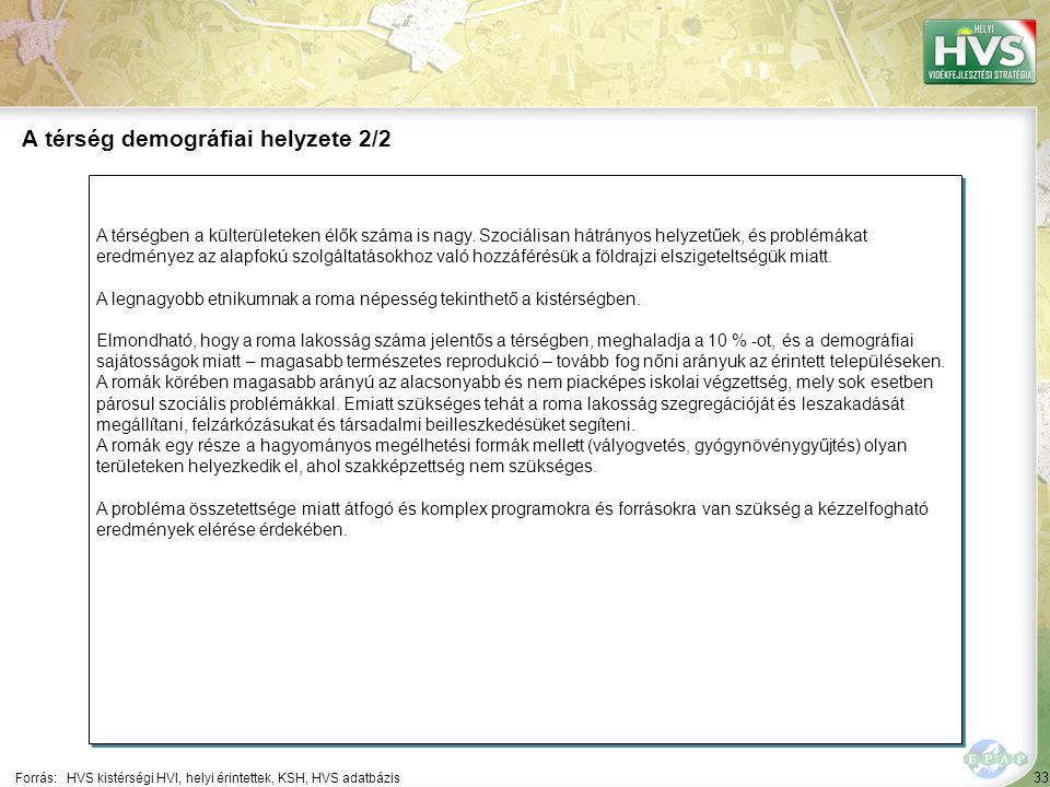 33 A térségben a külterületeken élők száma is nagy.