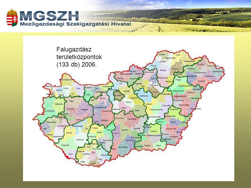 Falugazdász területközpontok (133 db) 2006.