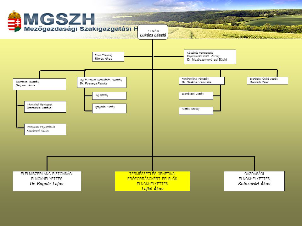 Az újjászervezett falugazdász hálózat feladatai 2004-ig 1999.