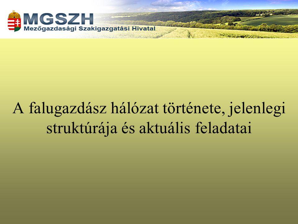 A falugazdász hálózat jelene az MgSzH-n belül I.Az 1054/2006.