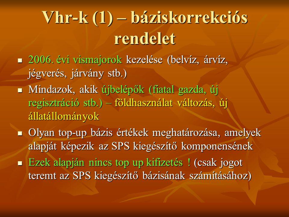 Vhr-k (1) – báziskorrekciós rendelet 2006.
