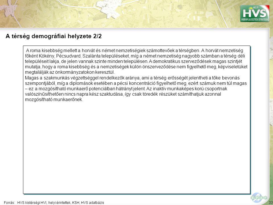33 A roma kisebbség mellett a horvát és német nemzetiségiek számottevőek a térségben.