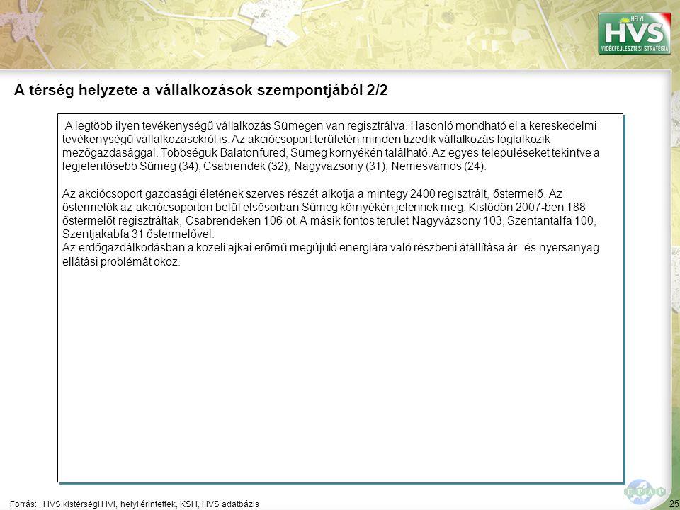 25 A legtöbb ilyen tevékenységű vállalkozás Sümegen van regisztrálva.
