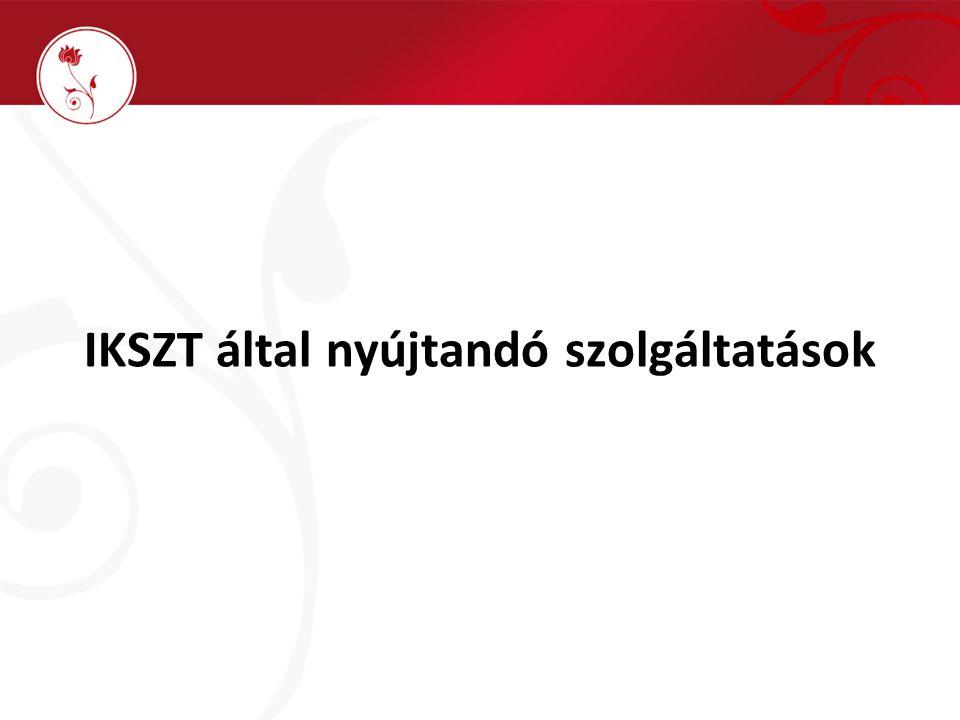 IKSZT által nyújtandó szolgáltatások
