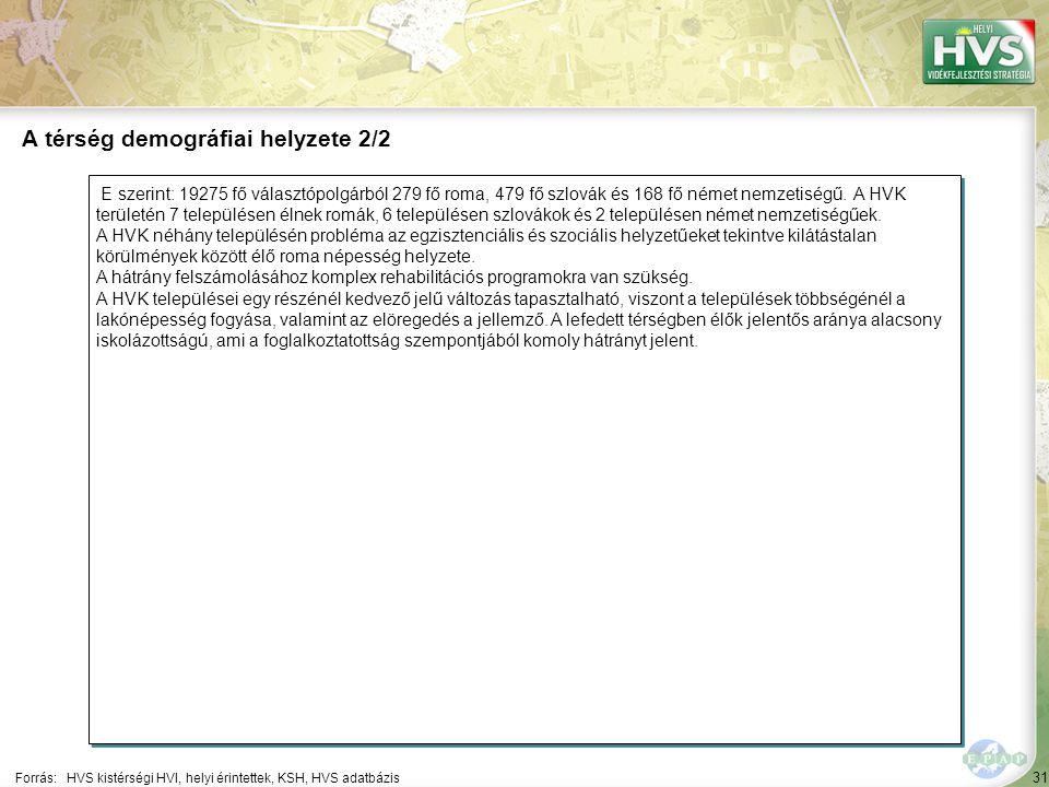 31 E szerint: 19275 fő választópolgárból 279 fő roma, 479 fő szlovák és 168 fő német nemzetiségű.