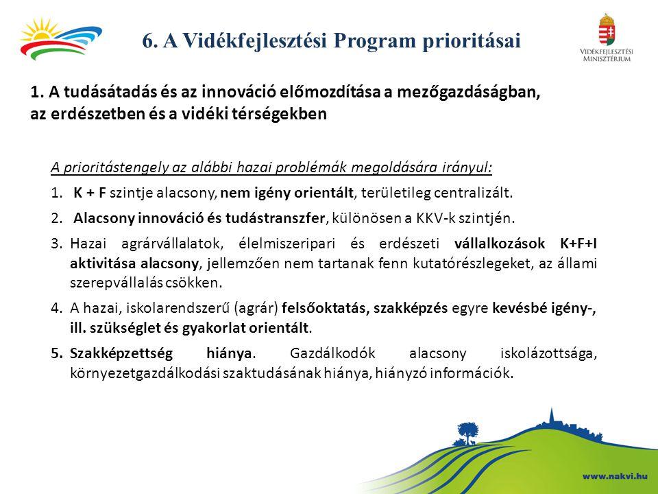 6.A Vidékfejlesztési Program prioritásai 1.