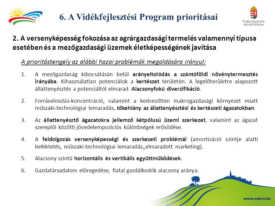 6.A Vidékfejlesztési Program prioritásai 2.