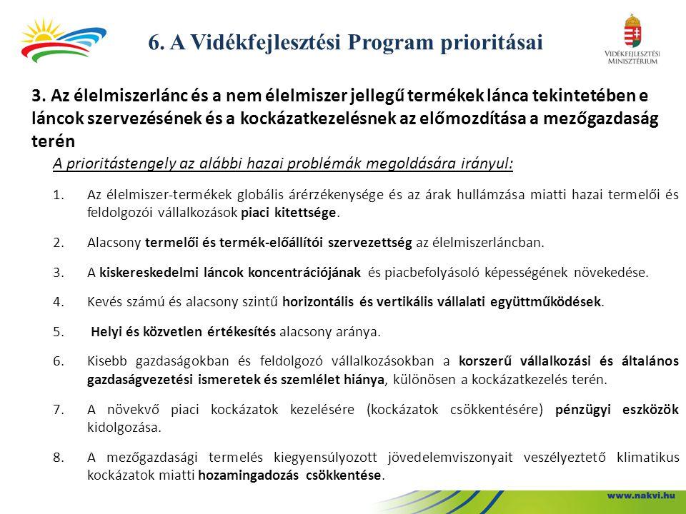 6.A Vidékfejlesztési Program prioritásai 3.