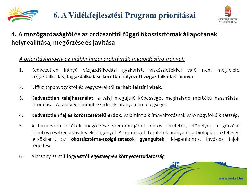 6.A Vidékfejlesztési Program prioritásai 4.
