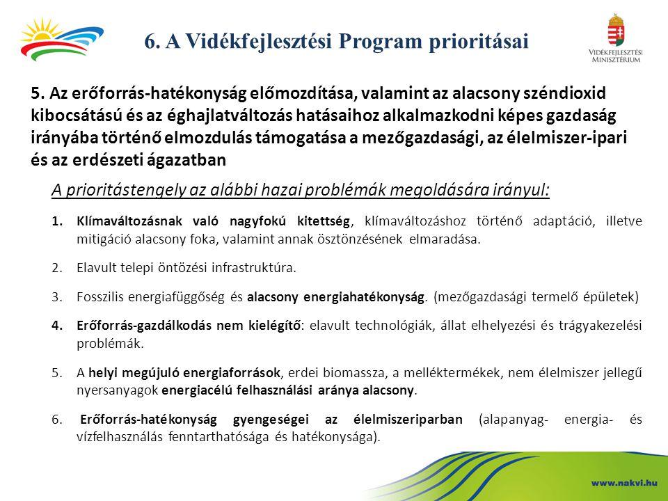 6.A Vidékfejlesztési Program prioritásai 5.