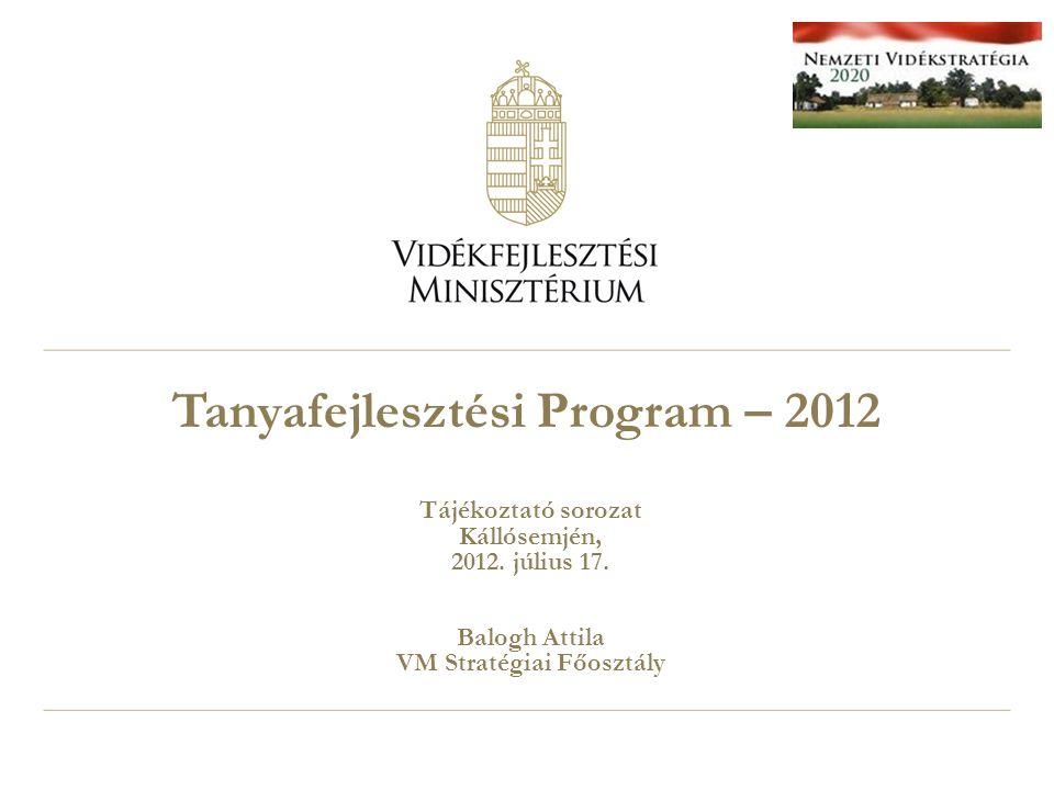 Tanyafejlesztési Program – 2012 Tájékoztató sorozat Kállósemjén, 2012.