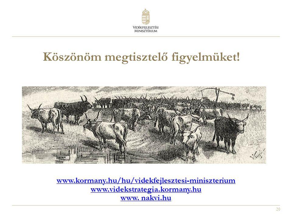20 www.kormany.hu/hu/videkfejlesztesi-miniszterium www.videkstrategia.kormany.hu www.