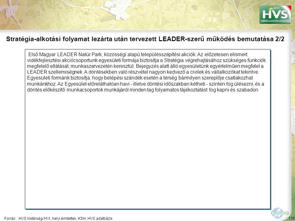 138 Első Magyar LEADER Natúr Park, közösségi alapú településszépítési akciók. Az előzetesen elismert vidékfejlesztési akciócsoportunk egyesületi formá