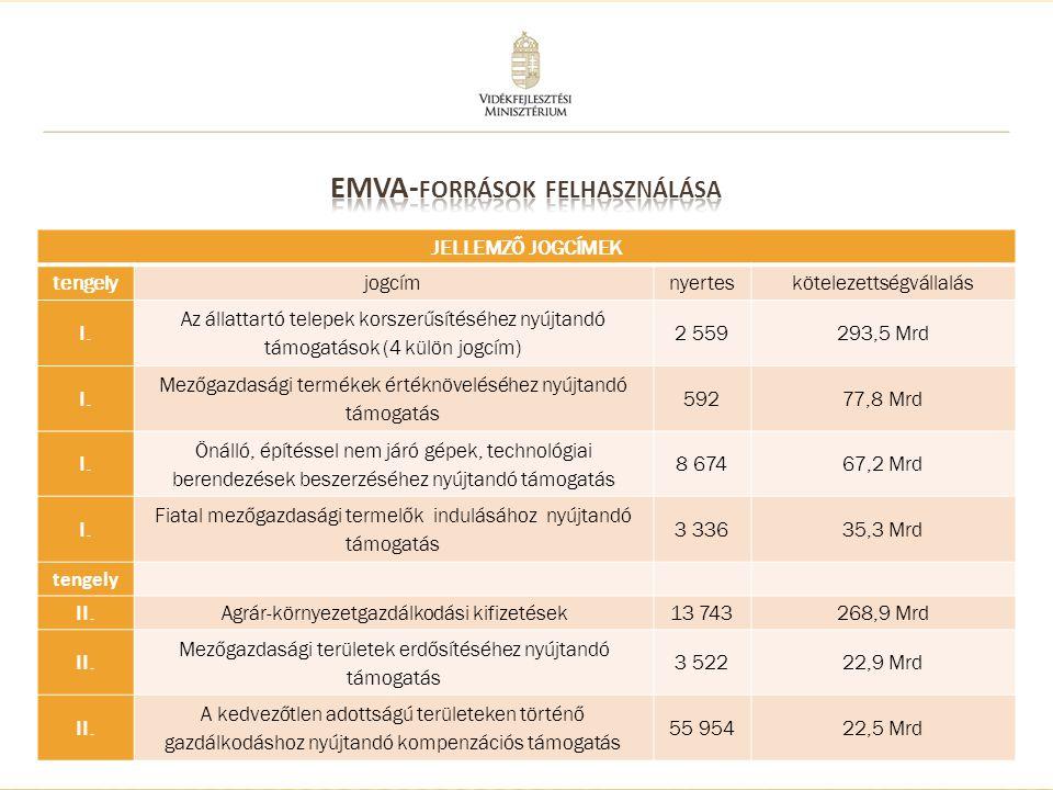 5 JELLEMZŐ JOGCÍMEK tengelyjogcímnyerteskötelezettségvállalás III.