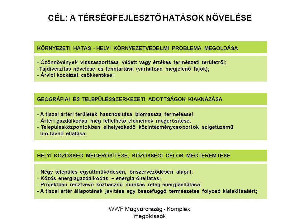 WWF Magyarország - Komplex megoldások GEOGRÁFIAI ÉS TELEPÜLÉSSZERKEZETI ADOTTSÁGOK KIAKNÁZÁSA - A tiszai ártéri területek hasznosítása biomassza terme