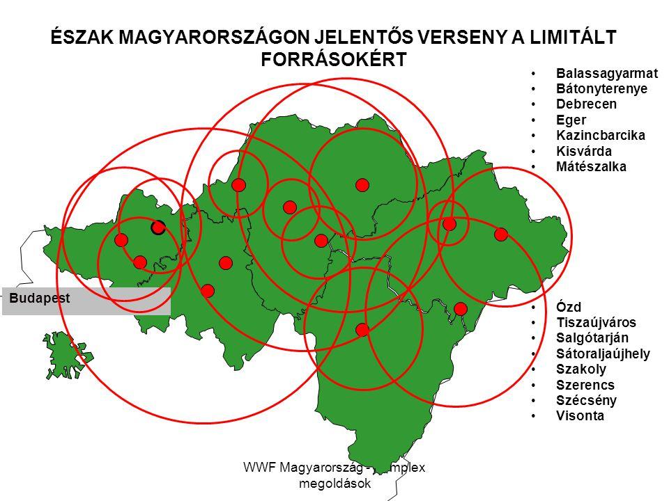 WWF Magyarország - Komplex megoldások Balassagyarmat Bátonyterenye Debrecen Eger Kazincbarcika Kisvárda Mátészalka Ózd Tiszaújváros Salgótarján Sátora
