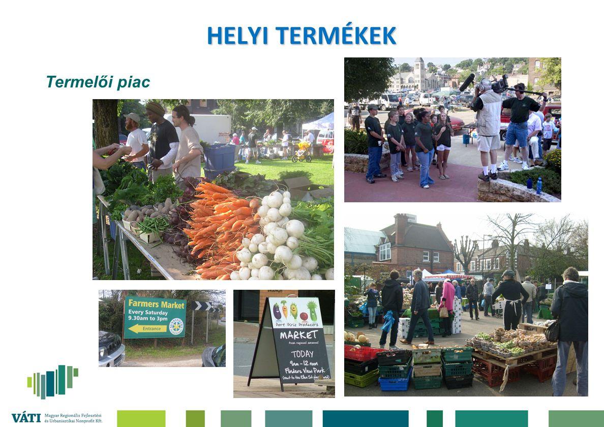 HELYI TERMÉKEK Termelői piac