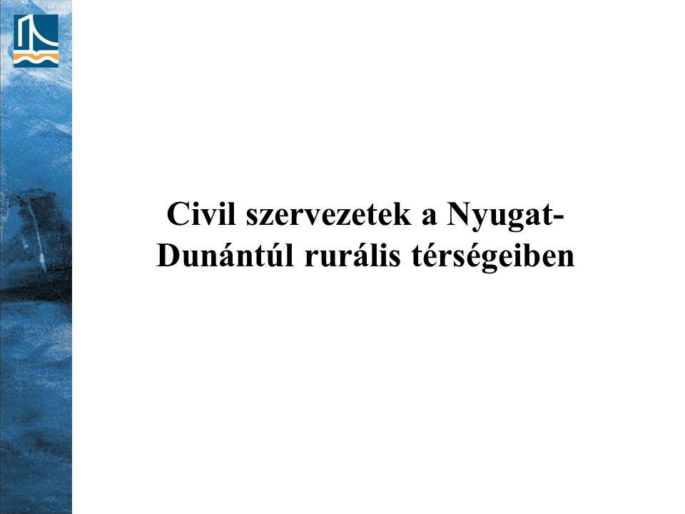 Civil szervezetek a Nyugat- Dunántúl rurális térségeiben