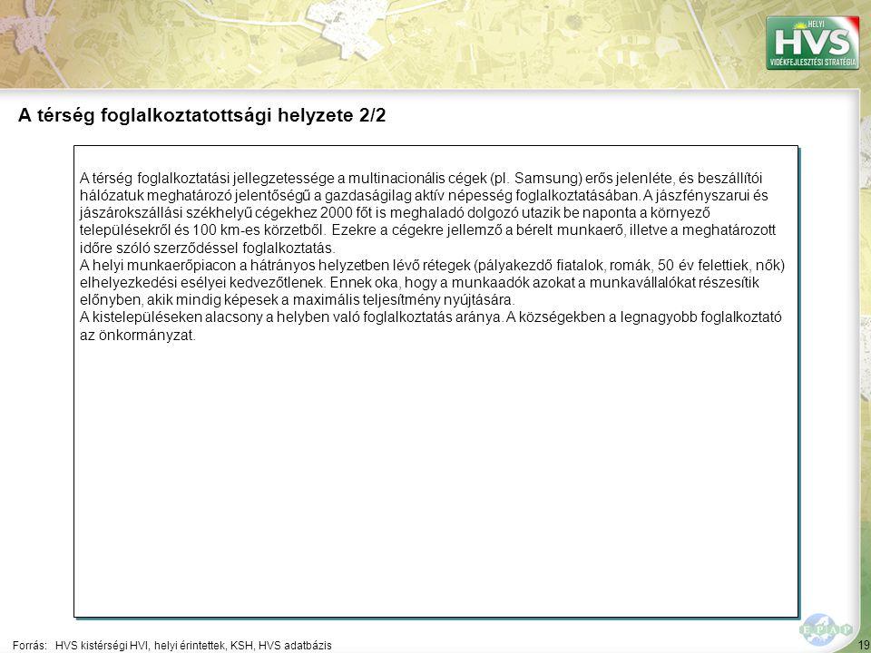 19 A térség foglalkoztatási jellegzetessége a multinacionális cégek (pl.