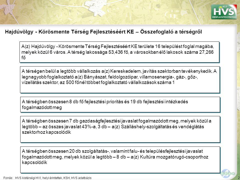 53 ▪Település központok, parkok fejlesztése Forrás:HVS kistérségi HVI, helyi érintettek, HVS adatbázis Az egyes fejlesztési intézkedésekre allokált támogatási források nagysága 4/8 A legtöbb forrás – 95,000 EUR – a(z) Társadalmi felelősség erősítése a hátrányos helyzetű rétegekkel kapcsolatban.