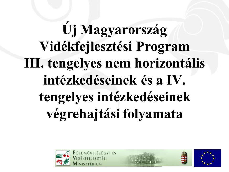 Új Magyarország Vidékfejlesztési Program III. tengelyes nem horizontális intézkedéseinek és a IV.