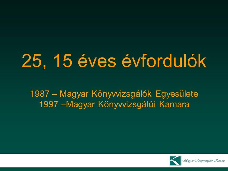 2003 – Magyar Könyvvizsgálói Kamara Oktatási bizottság Dr.
