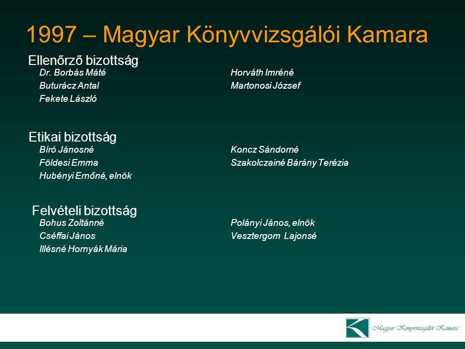 1999 – Magyar Könyvvizsgálói Kamara 1999.Május 16.
