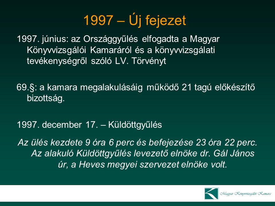 1997 – Új fejezet 1997.