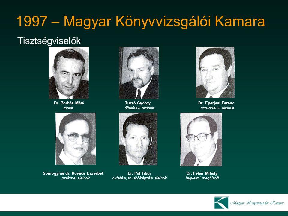 1997 – Magyar Könyvvizsgálói Kamara Tisztségviselők Dr.