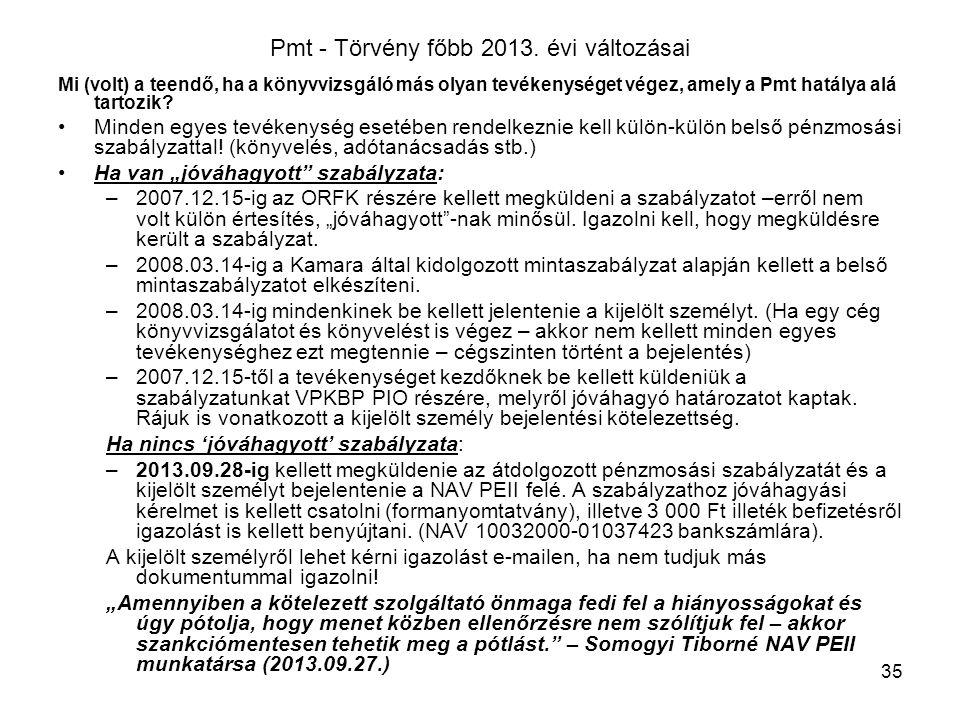 35 Pmt - Törvény főbb 2013.