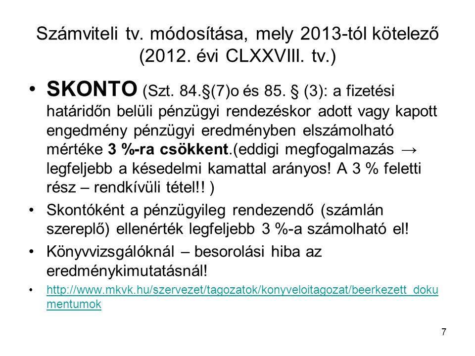 28 Pmt - Törvény főbb 2013.évi változásai Azonosítási adatlap (1.