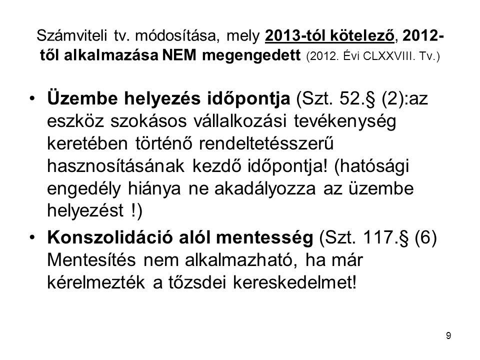 30 Pmt - Törvény főbb 2013.évi változásai Azonosítási adatlap (1.