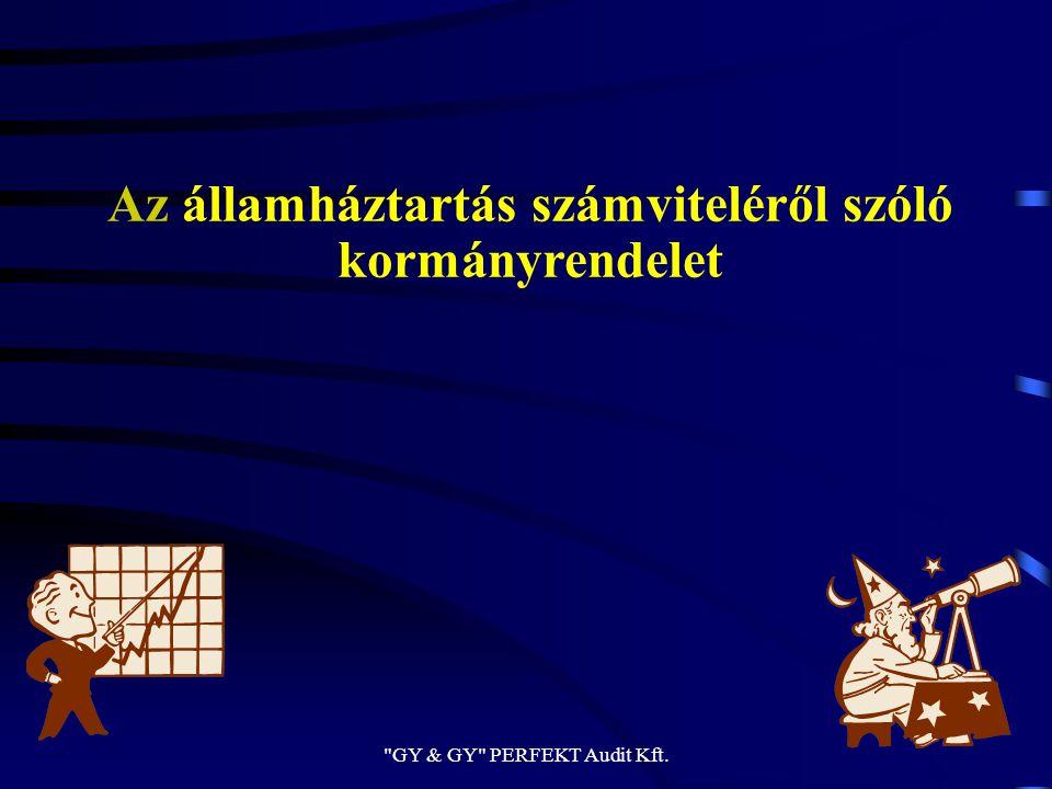 Az államháztartás számviteléről szóló kormányrendelet