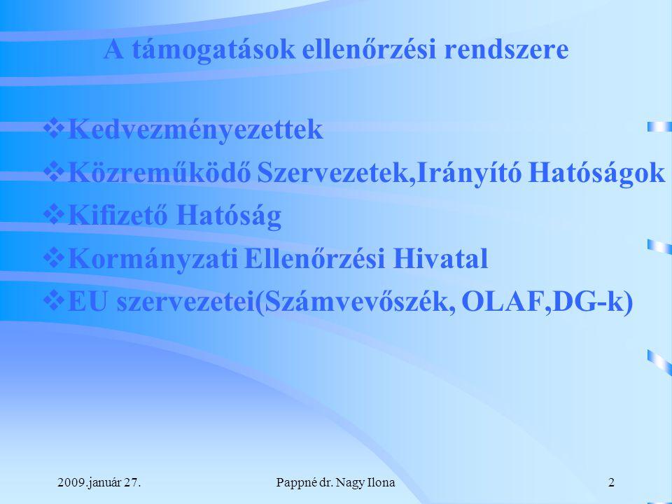 2009.január 27.Pappné dr.Nagy Ilona3 EU FINANSZÍROZÁS FORMÁI I.